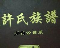 {谱牒研究}龙城许氏修谱札记