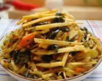美味咸菜:长梗白和白萝卜